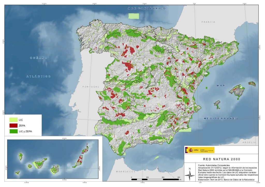 30% of the territory is Natura 2000