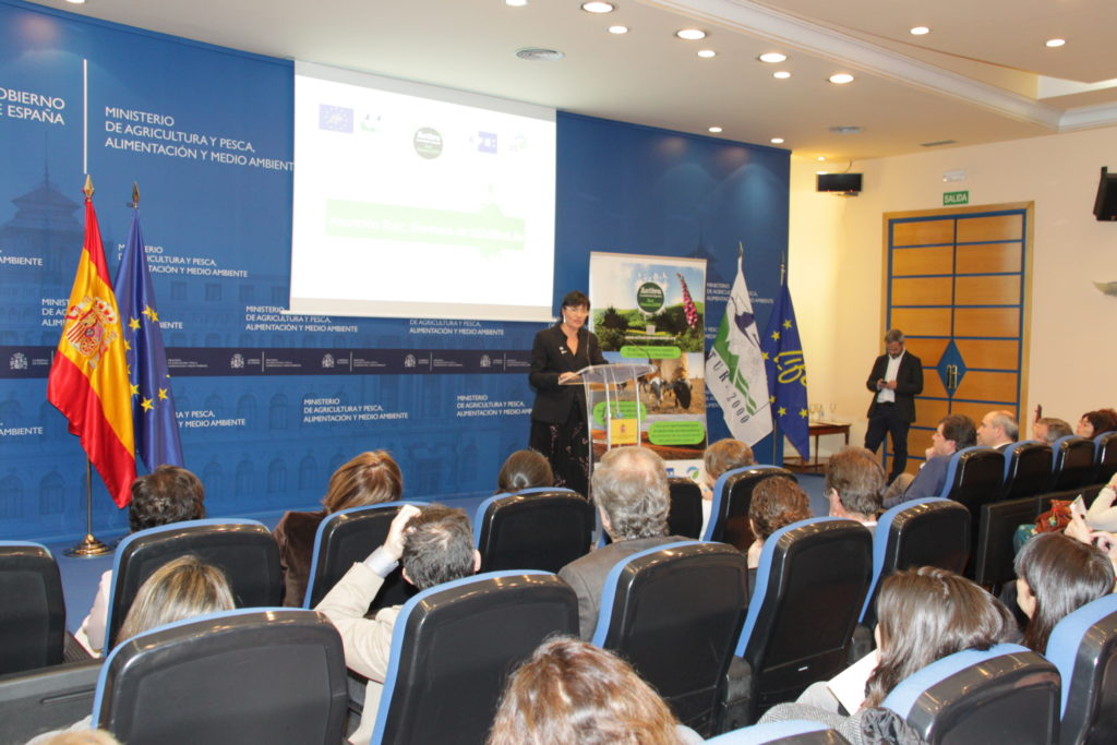 Asuncion Ruiz, during her speech at the closing ceremony of the Life + Natura 2000: connecting people with biodiversity, held at the MAPAMA.